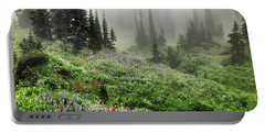 Mt Rainier Wildflowers Portable Battery Charger
