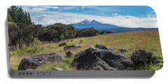 Portable Battery Charger featuring the photograph Mt Ruapehu View by Gary Eason