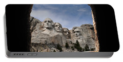 Portable Battery Charger featuring the photograph Mt Rushmore Tunnel by David Lawson