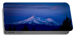 Mt Shasta At Sunrise Portable Battery Charger