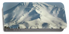 Mt Shasta In Early Morning Light Portable Battery Charger