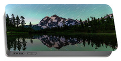 Mt Shuksan And Star Trails Portable Battery Charger