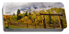 Mt Sopris Under The Clouds Portable Battery Charger by Ronda Kimbrow