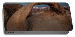 Portable Battery Charger featuring the photograph Mt. Whitney Through Mobius Arch by Tim Bryan