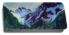 Portable Battery Charger featuring the painting Mt.roberts Juneau Alaska by Yulia Kazansky