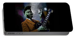 Portable Battery Charger featuring the mixed media Muddy Waters - Mick Jagger's Grandfather by Dan Haraga