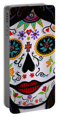 Portable Battery Charger featuring the painting Muertos by Pristine Cartera Turkus
