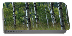 Portable Battery Charger featuring the photograph Mug - Aspen Trees by Inge Riis McDonald
