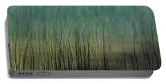 Portable Battery Charger featuring the photograph Mug - Lake Grass by Inge Riis McDonald