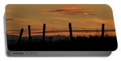 Portable Battery Charger featuring the photograph Mug - Prairie Sunset by Inge Riis McDonald