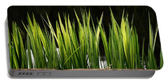 Portable Battery Charger featuring the photograph Mug - Spring Reeds by Inge Riis McDonald