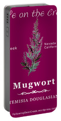 Mugwort - White Text Portable Battery Charger