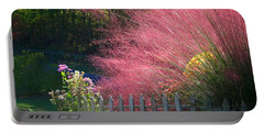 Portable Battery Charger featuring the photograph Muhly Grass by Kathryn Meyer