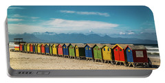 Muizenberg Beach Huts 1 Portable Battery Charger