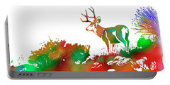 Mule Deer Buck Skyline Drip Pop Art II Portable Battery Charger