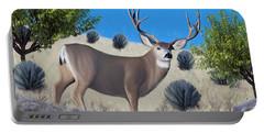 Mule Deer Trophy Buck Portable Battery Charger