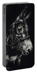 Mule Polly In Black And White Portable Battery Charger