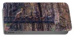 Mule Train On Black Bridge, Grand Canyon Portable Battery Charger