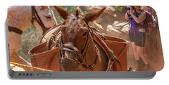Mule Train On The South Kaibab Trail Portable Battery Charger
