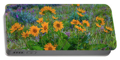 Mule's Ear And Lupine Portable Battery Charger