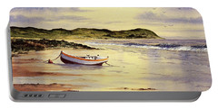 Portable Battery Charger featuring the painting Mull Of Kintyre Scotland by Bill Holkham
