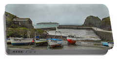 Portable Battery Charger featuring the photograph Mullion Cove Harbour by Brian Roscorla