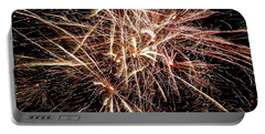 Portable Battery Charger featuring the photograph Multi Blast Fireworks #0721 by Barbara Tristan