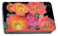 Portable Battery Charger featuring the photograph Multi-color Roses by Jerry Battle