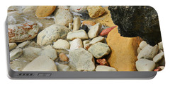 multi colored Beach rocks Portable Battery Charger by Expressionistart studio Priscilla Batzell