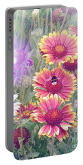 Multi Coloured Flowers With Bee Portable Battery Charger