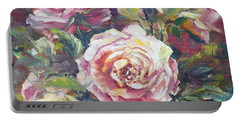 Multi-hue And Petal Rose. Portable Battery Charger