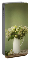 Multiflora Rose In A Rustic Vase Portable Battery Charger