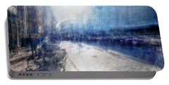 Multiple Exposure Of Shopping Street Portable Battery Charger