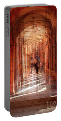 multiple exposure of  street arcade, Italy  Portable Battery Charger