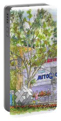 Multiplication Sign Across The Triple A Building In Century City, California Portable Battery Charger by Carlos G Groppa
