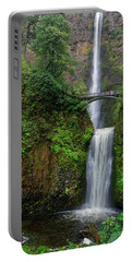Portable Battery Charger featuring the photograph Multnoma Falls by Jonathan Davison