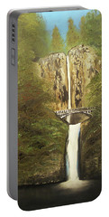 Multnomah Falls Portable Battery Charger by Angela Stout