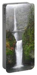 Multnomah Falls -autumn Mist Portable Battery Charger