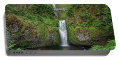 Multnomah Falls In Spring Portable Battery Charger by Greg Nyquist