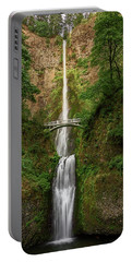 Portable Battery Charger featuring the photograph Multnomah Falls by John Hight