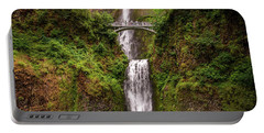 Multnomah Falls Portable Battery Charger by Martina Thompson