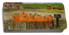 Mum And Pumpkin Harvest Portable Battery Charger