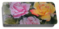 Mum's Roses Portable Battery Charger by Sandra Phryce-Jones