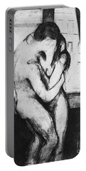 Munch The Kiss, 1895 Portable Battery Charger