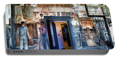 Mural Coit Tower Interior Panorama  Portable Battery Charger