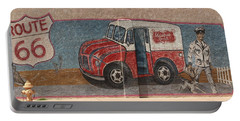 Mural On Historic Route 66 Portable Battery Charger