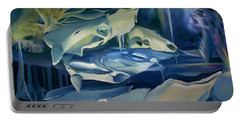 Portable Battery Charger featuring the painting Mural Skulls Of Lifes Past by Nancy Griswold