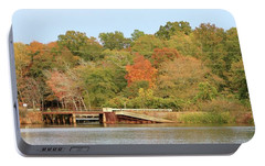 Portable Battery Charger featuring the photograph Murphy Mill Dam/bridge by Jerry Battle