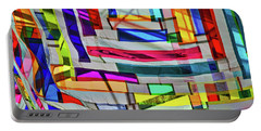 Museum Atrium Art Abstract Portable Battery Charger