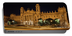 Museum Of Ethnography In Budapest At Night Portable Battery Charger